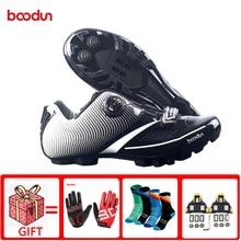 Boodun New men's MTB bike road bike shoes non-slip reflective self-locking shoes bicycle sports shoes triathlon racing shoes