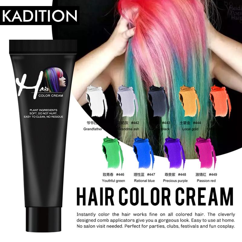 Hair Dye Odorless Hair Cream Color Dye Color Wax Temporary Dye Disposable Dye Cream Hair DIY Design Coloring Styling Silver Grey