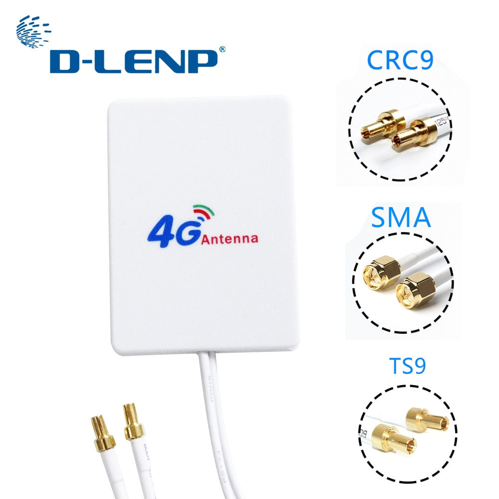 4g lte antenna 3g 4g panel antenna with sma ts9 crc9 connector 3m cable for huawei huawei e8372 e3372 b315 router usb modem Dlenp 3M cable 3G 4G LTE Antenna External Antennas for Huawei ZTE 4G LTE Router Modem Aerial with TS9/ CRC9/ SMA Connector
