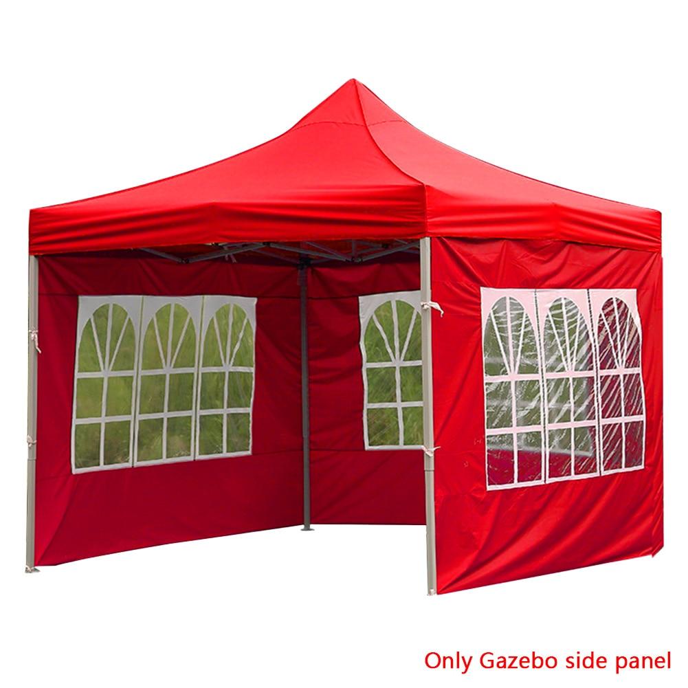 Painel lateral reusável gazebo dobrável portátil durável acessórios sidewall anti-uv oxford pano impermeável à prova de vento ao ar livre tenda