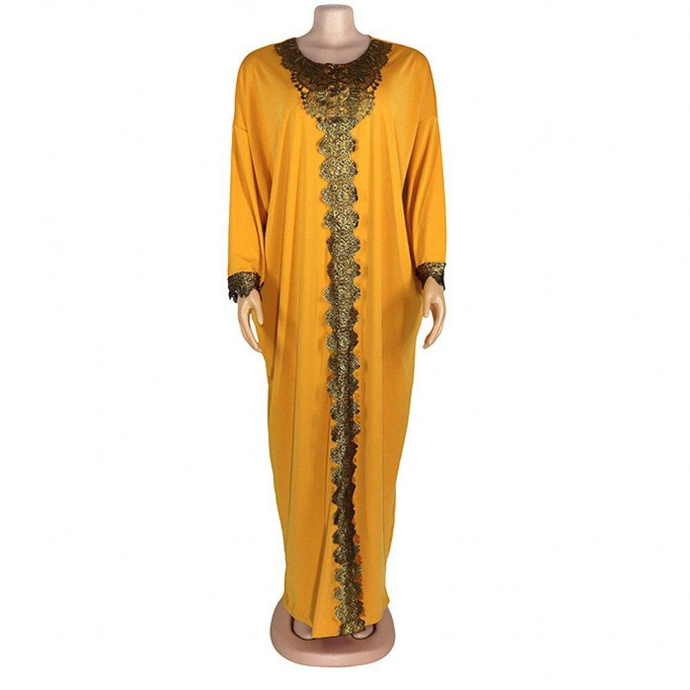 Африканские женские халаты, мусульманское платье, стиль весна/лето 2021, эластичная ткань, круглый воротник, большое свободное платье, Африка...