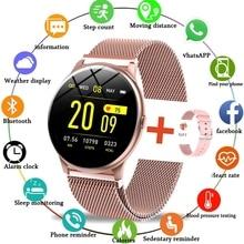 2021 New Color Screen Smart Watch Women Men Waterproof Sport Fitness watch Heart rate blood pressure