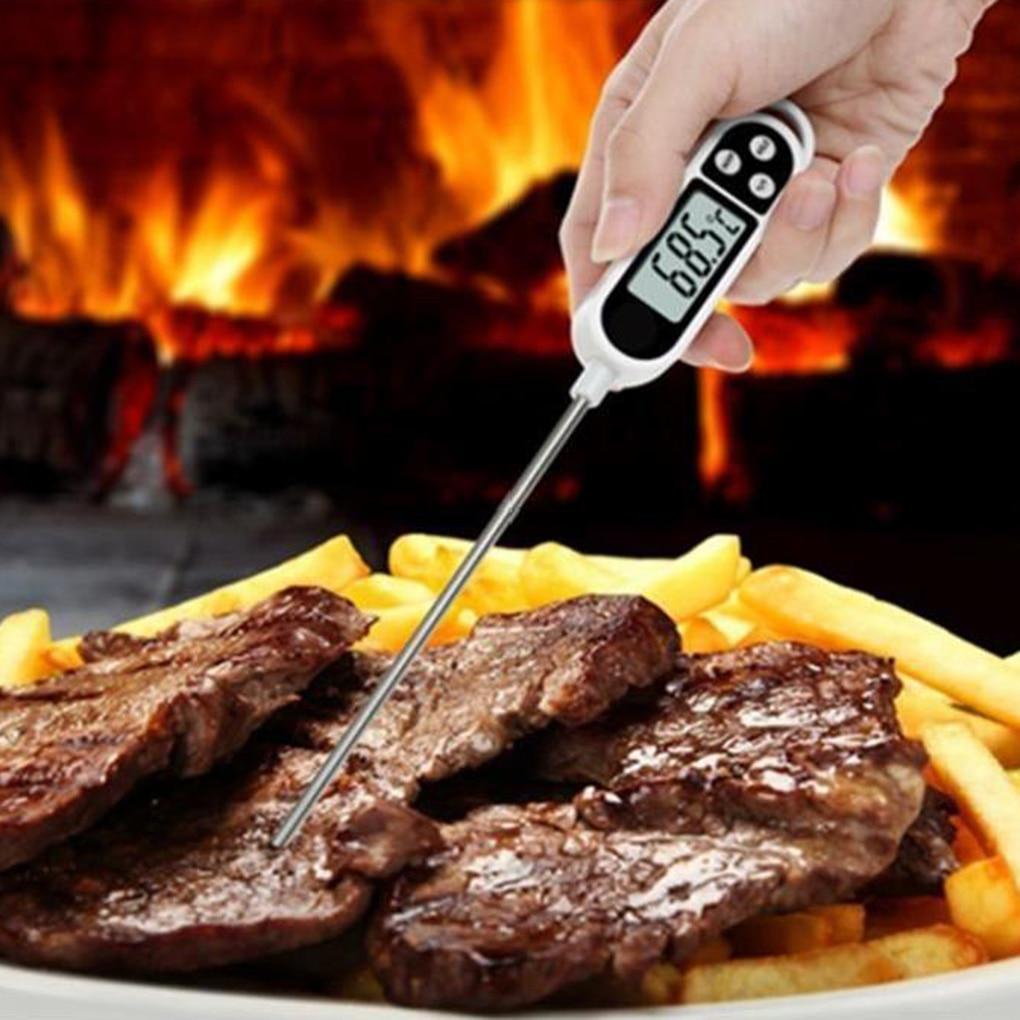 Digital Meat Thermometer Cooking Food Kitchen BBQ Probe Water Milk Oil Liquid Oven Digital Temperaure  ThermocoupleSensor Meter