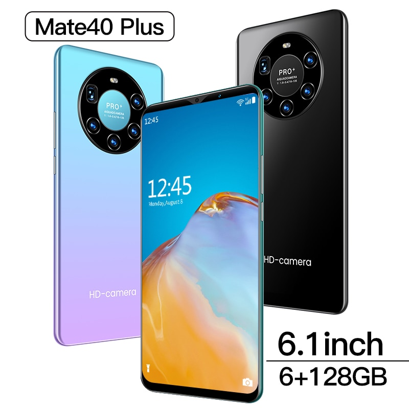 2021 Hawei Smartphones Andorid 10 Mate 40 Plus Phone 6.1inch 6GB+128GB Mobile Phones Global Version