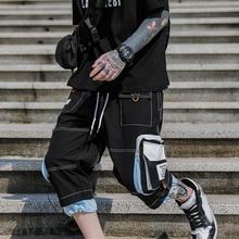 Хип-Хоп Уличная Мужская карго шорты мужские летний тренд большие карманы удобные мужские шорты Карго хипстерские шорты