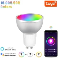 Ampoules LED intelligentes Tuya GU10  WiFi  RGBCW 5W  lampes a intensite variable  compatibles avec maison intelligente  Alexa Google Home Assistant hub requis