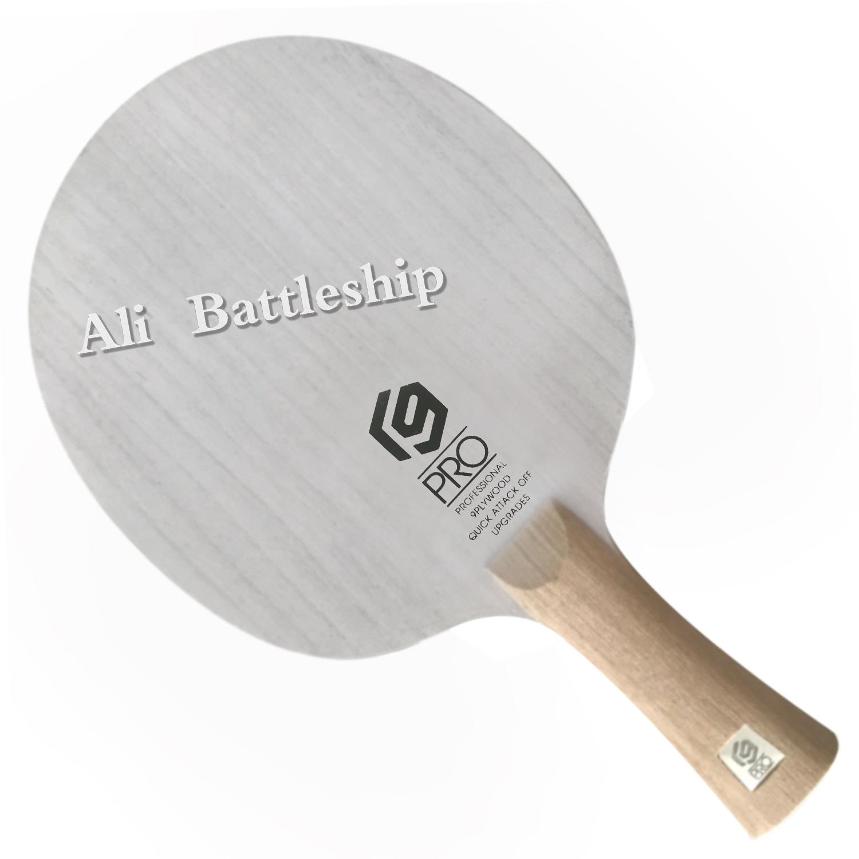 Hoja de tenis de mesa SANWEI V9 PRO 9 capas de madera pura todo alrededor de pips-Palo de raqueta de ping pong largo paddle
