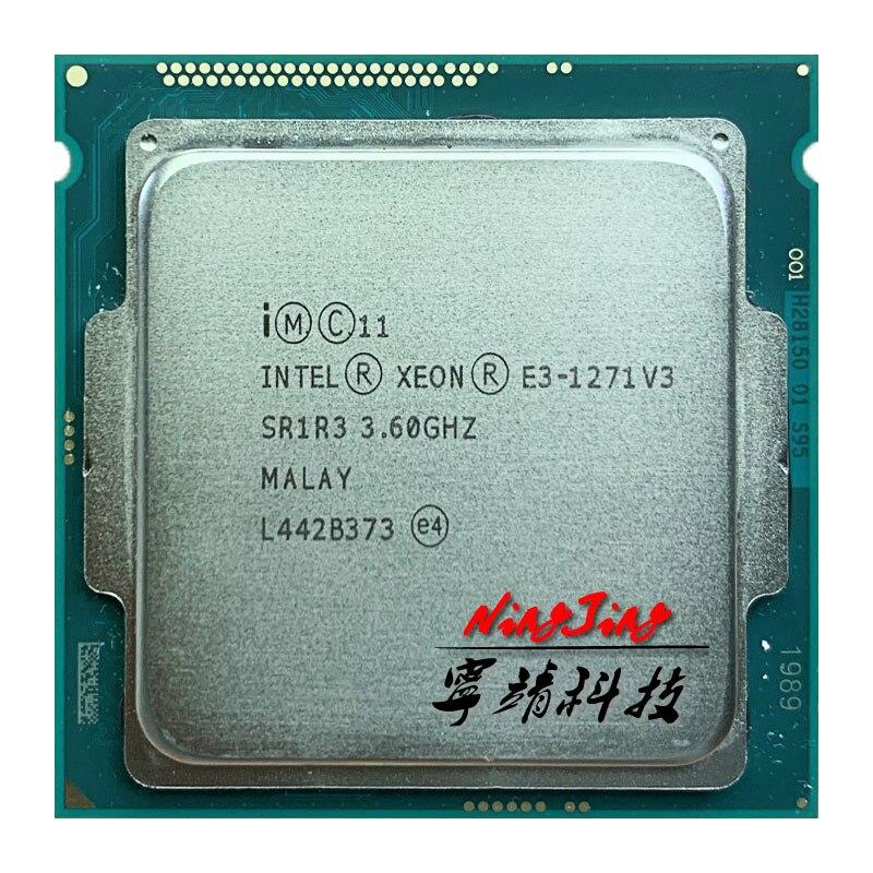 Intel Xeon E3-1271 v3 E3 1271 v3 E3 1271v3 3.6 GHz, Quad Core 8 fils, processeur dunité centrale L2 = 1M L3 = 8M, 80W, LGA 1150