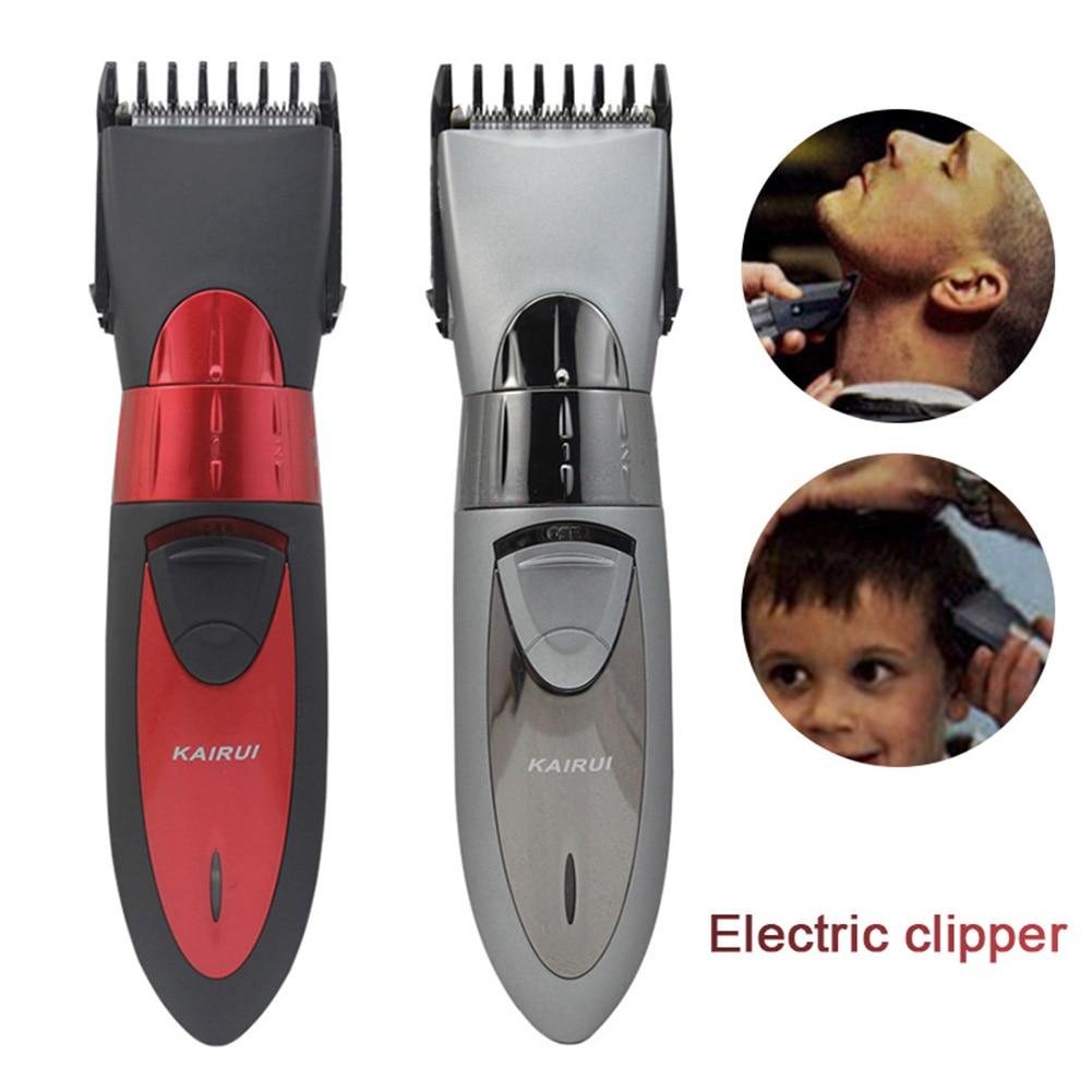 Новая электрическая машинка для стрижки волос для ребенка Для мужчин бритва Водонепроницаемый волос бритва триммер для волос резки Переза...