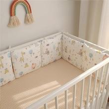 Bébé chambre décor 6 pièces pare-chocs ensemble protecteur imprimé Animal Zoo oreiller pour nouveau-né dans le berceau choses pour bébé 30*30cm lit pare-chocs