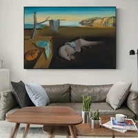 salvador dali the persistence of memory canvas paintings on the art posters and prints famous wall art pictures home decoration