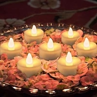 12pcs home decoration light night light led tea light candle flameless flashing wedding birthday party decoration lighting