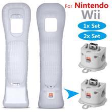 Für Nintendo Wii Motion Plus Adapter Sensor + Silizium Fall Fernbedienung