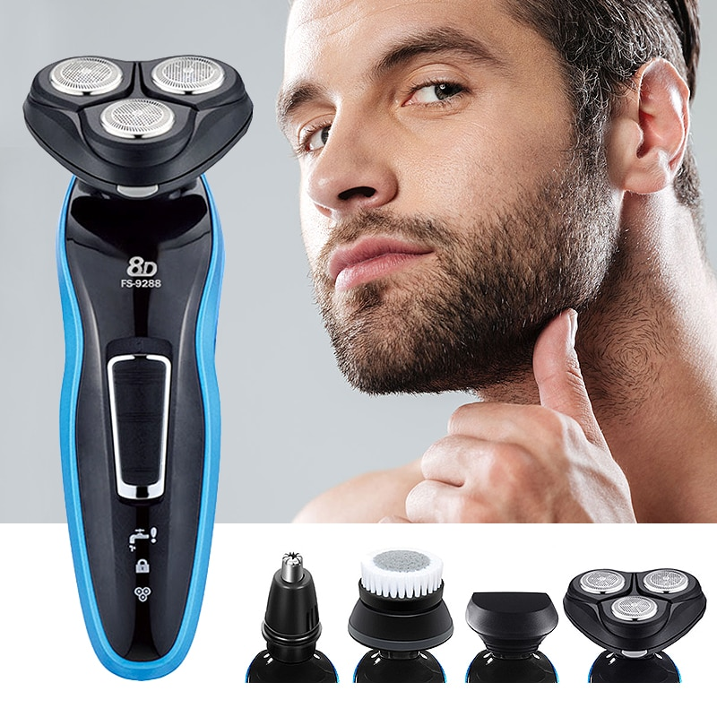 3D Floating Electric Razor Shaving Machine LCD Display Rechargeable Washable Beard Hair Shaver for M