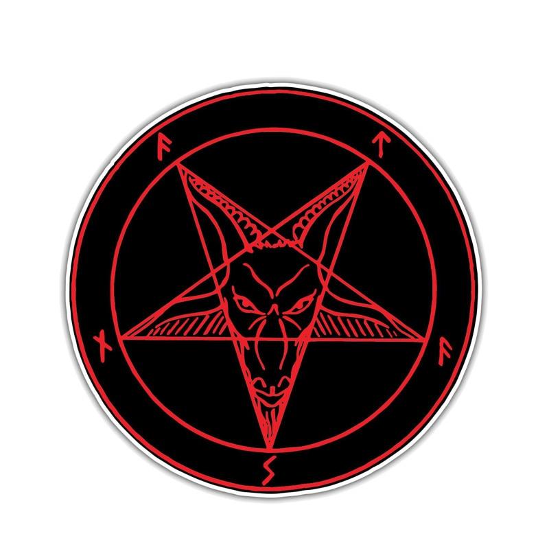 10.2 CENTÍMETROS * 10.2 CENTÍMETROS Inferno Satanás Diabo Demônio Etiqueta Do Carro Reflexivo Engraçado Decal adesivo PVC