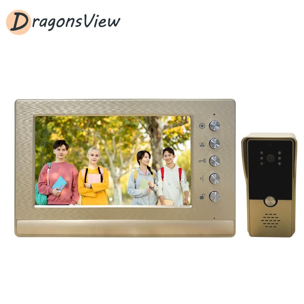 Dragonsview-هاتف مرئي بشاشة 7 بوصات ، اتصال داخلي بالفيديو 1000TVL ، لوحة دخول للمنزل والشقق