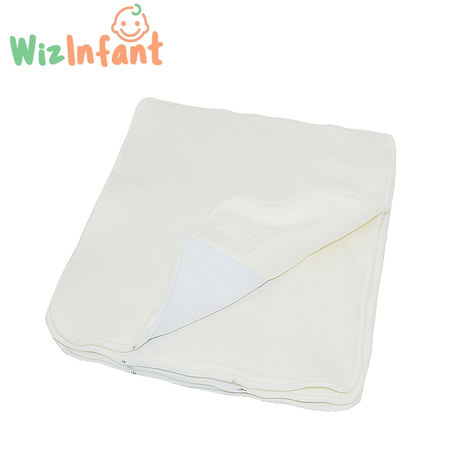 Wizinfant 5/10pcs 2 layers Square Tri Bamboo Cotton Liner Insert For Baby Cloth Diaper Nappy Natural Bamboo Washable