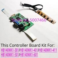 for hb140wx1 301401411501601 wled edp 30pin 1366768 notebook pc lcd screen vga display controller driver board diy kit