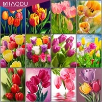 miaodu 5d diy diamond painting flower cross stitch kit round drill embroidery mosaic rose picture of rhinestones gift home decor