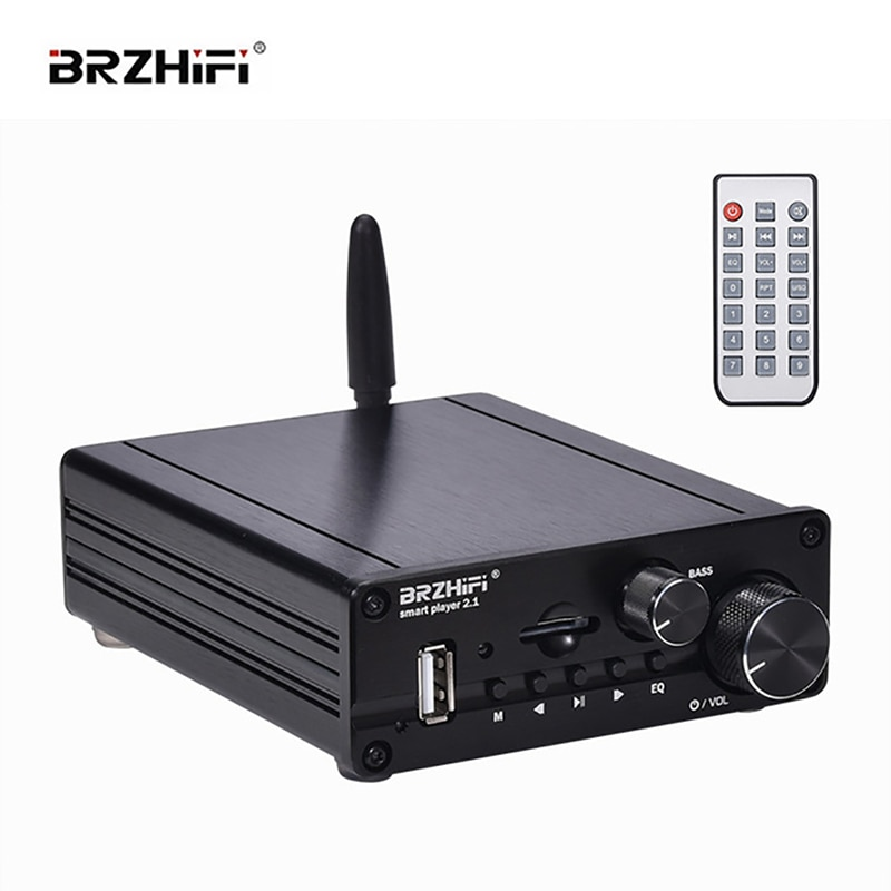 BRZHIFI مكبر كهربائي رقمي صوت صوتي 3116 طاقة عالية 2.1 قناة بلوتوث 5.0 أمبير Udisk TF تشغيل App التحكم