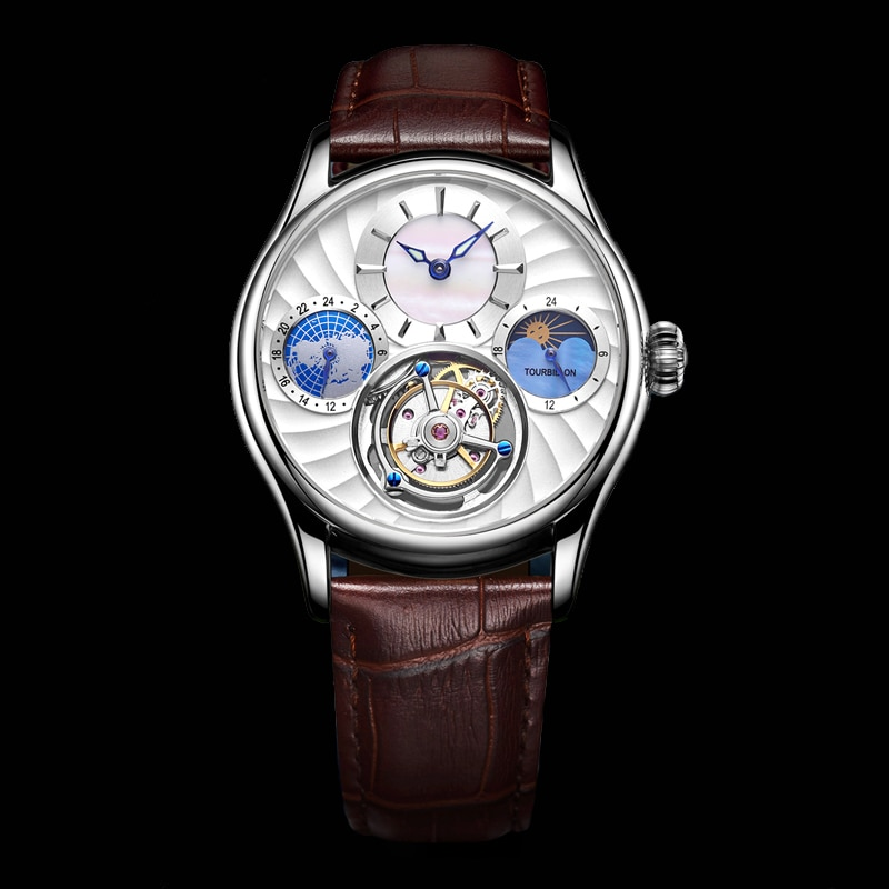 Aesop novo relógio mecânico masculino para homem relógios de luxo tourbillon esqueleto masculino à prova dwaterproof água relógio de pulso masculino relógios de luxo