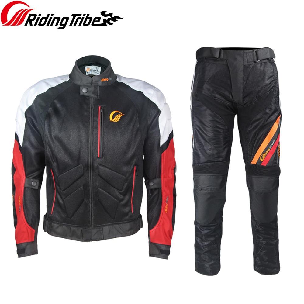 Pantalones de moto para hombre, reflectantes de verano para Rally Motocross MTB, pantalones protectores para montar con rodilleras desmontables HP-10