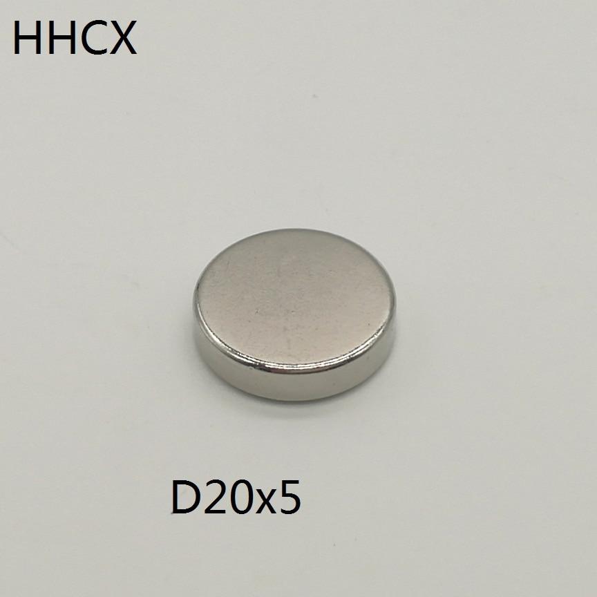 10 20 50 unids/lote Disco imán de 20x5 N38 disco fuerte NdFeB imán de tierras raras 20*5 imanes de neodimio 20 X 5 para altavoz