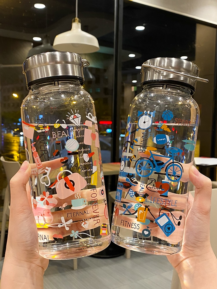 Large Capacity School Water Bottles for Girls Eco Friendly Products Direct Drinking Botellas Para Agua Creative Bottle BD50WB