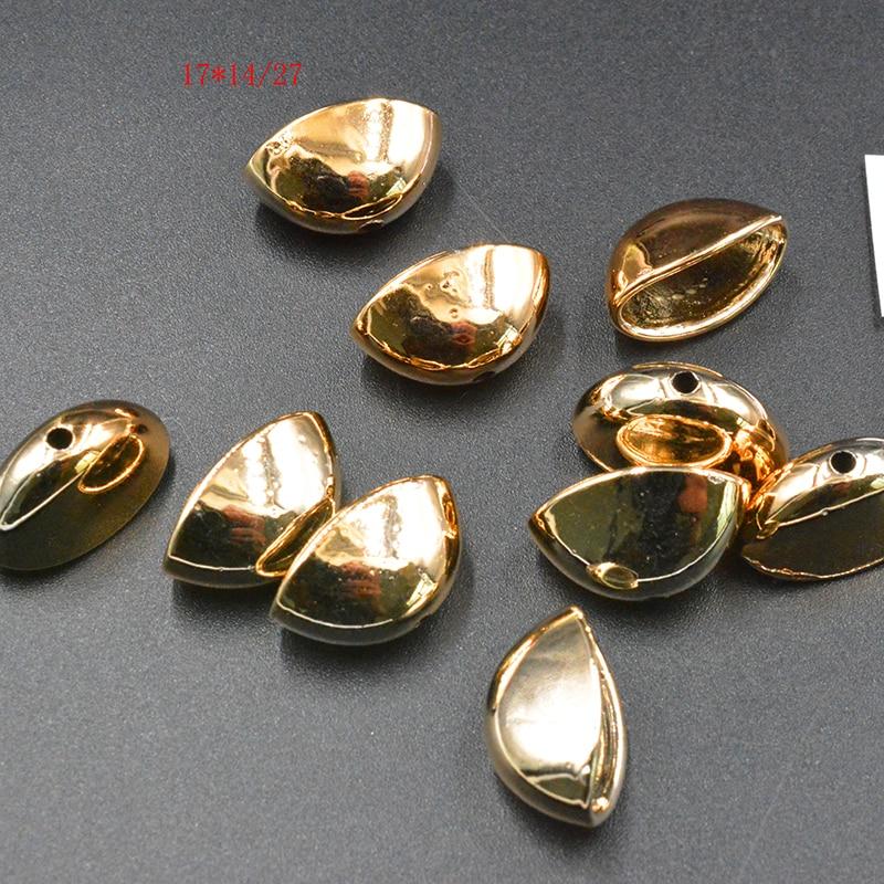 FLTMRH 10 stücke 17*14mm Gold/silber farbe/Rhodium Überzogene CCB Anhänger Clip Schließe Bail Perlen für Schmuck, Die Entdeckungen Halskette