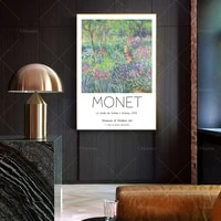 the artist%e2%80%99s garden in giverny 1900 by claude monet fine art poster print monet art print wall art home decor prints