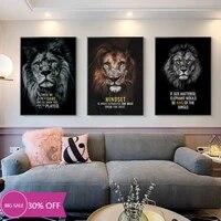 Toile de decoration de noel  peinture danimaux  affiches de Lions sauvages  tableau dart mural pour decoration de salon  decoration de maison