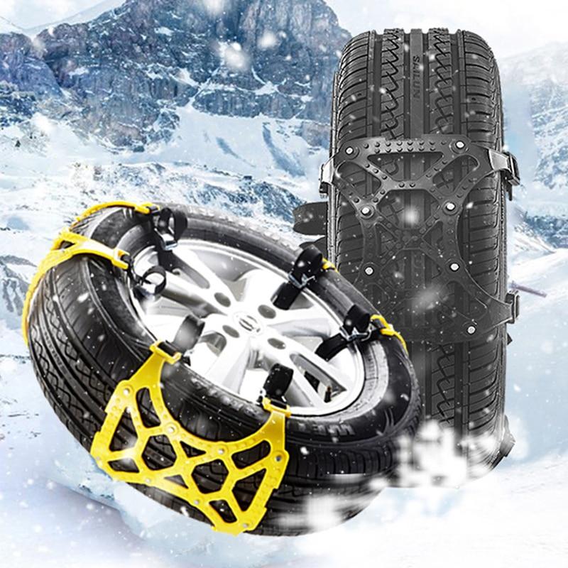 1pc Car Snow Chain Universal Auto SUV Tyre Wheel Winter Mud Roadway Safety Anti Slip Emergency Security TPU Chain Anti Skid Belt