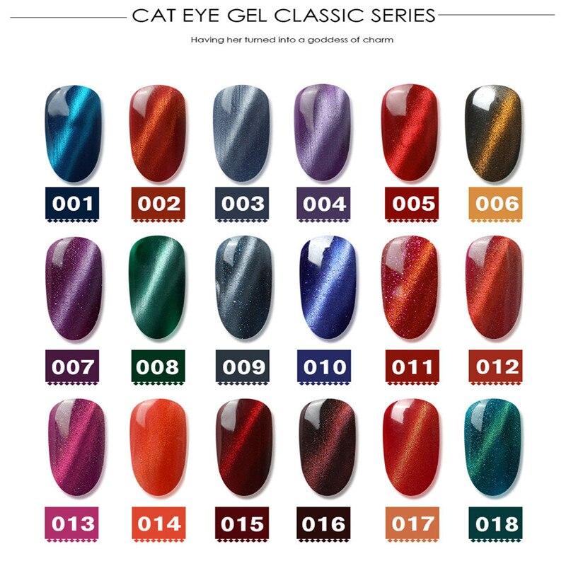 New Magnetic 5D Cat Eye UV Gel Nail Polish Magnet Laser Nail Art Varnish Starry Sky Jade Effect Soak Off UV gel Nail Art Lacquer