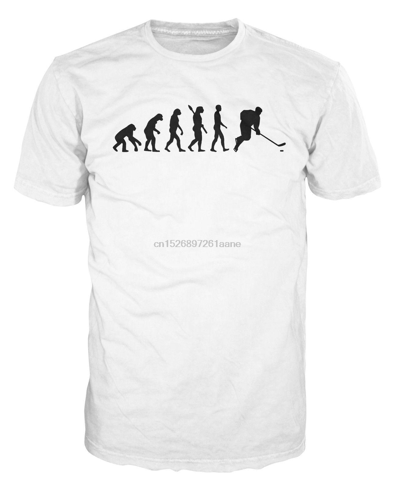 Camiseta Casual de marca de verano 2019 para adultos, camiseta de jugador de hockey sobre hielo evolución divertido, camisetas de Metal de hockey sobre hielo