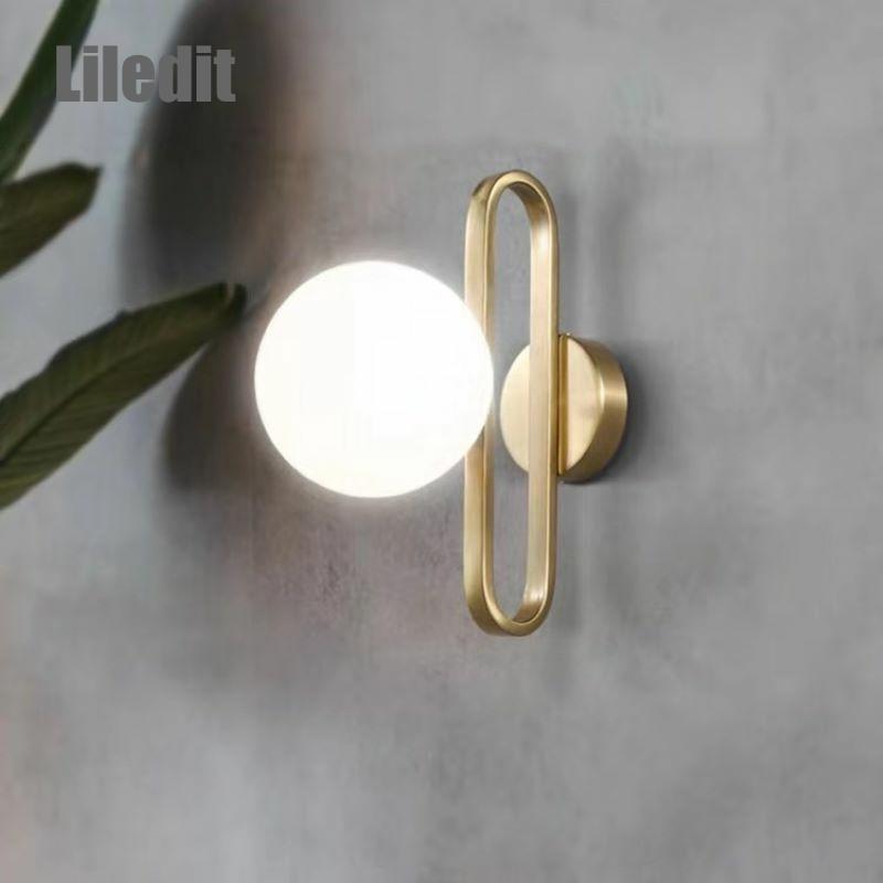 Modern LED Wall Light Bathroom Bathroom Kitchen Light Fixture Glass Metal Simple Home Decor Wall Mounted Wall Saconces Hallway