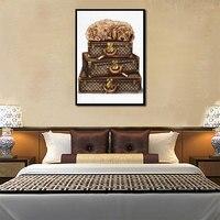 Постер в ретро стиле коробка и собака холст картина настенное искусство домашнее украшение для гостиной и спальни безрамный стиль