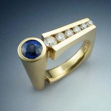 Anillo con estilo Punk 9 2 5 DE MENGYI geométrico Irregular para mujer incrustación de circonita cúbica anillos Hippie modernos regalo de joyas de fiesta