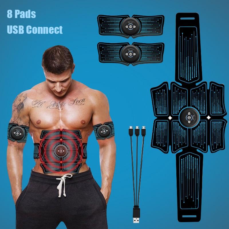 EMS البطن محفز العضلات المدرب USB ربط Abs أجهزة لياقة بدنية التدريب والعتاد Estimulador العضلات التخسيس مدلك