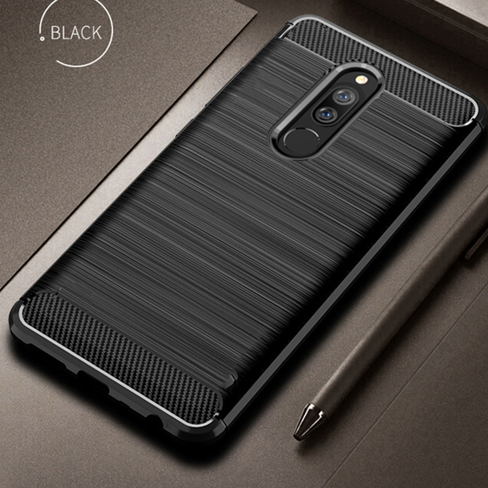 For Xiaomi Redmi 8 Case Carbon Fiber Cover Shockproof Phone Case For Redmi 8A 8 A Redmi8 Cover Full Protection Bumper Flex Shell