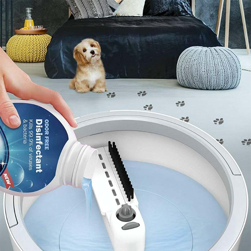 Mop with bucket Microfiber Mop With Bucket Water Filtration – Self Wringing Wet Dry All-In-One Mop with Extra Refills enlarge