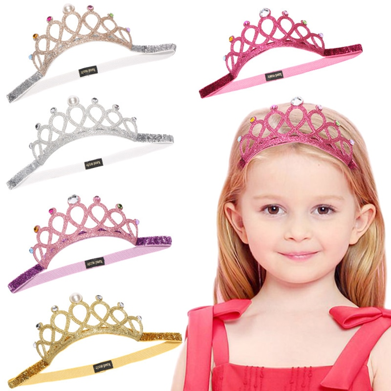 Criança strass princesa faixa de cabelo elástico coroa tiara cosplay acessórios faixa de cabelo acessório festa presente cabelo jewelr 2021