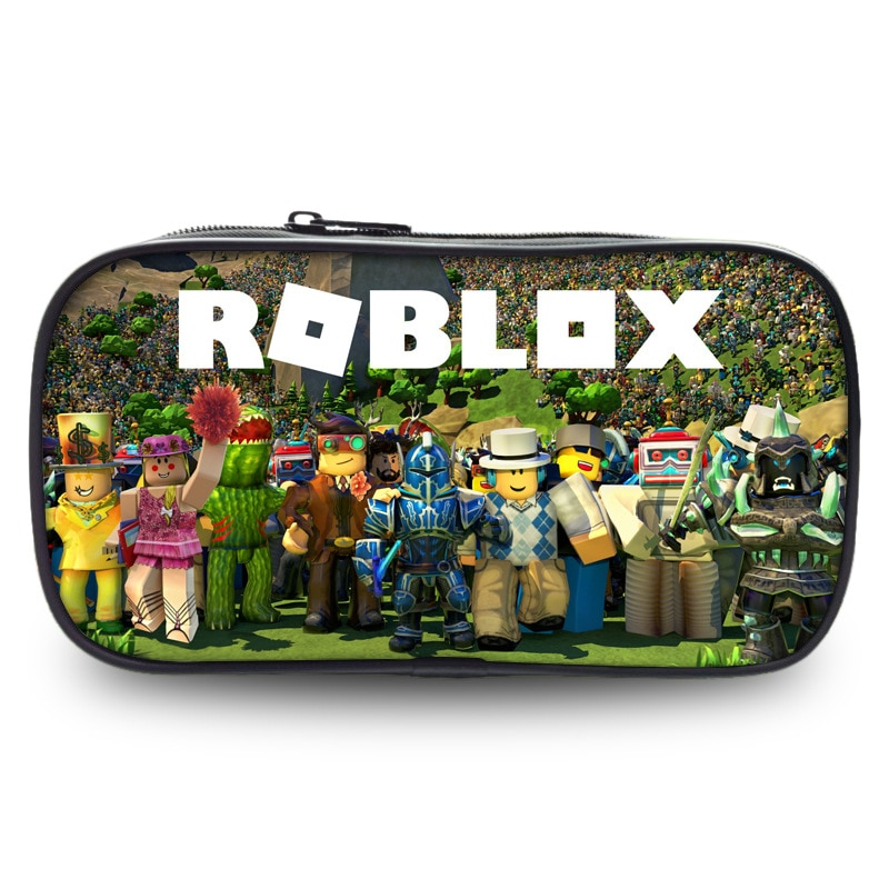 simple camouflage pencil case small fresh large capacity pen box student student stationery bag pencil bag orange ROBLOX Bag Zipper Pencil Case Twill Canvas Large Pen Box Pencil Bag For Student School Stationery Supplies