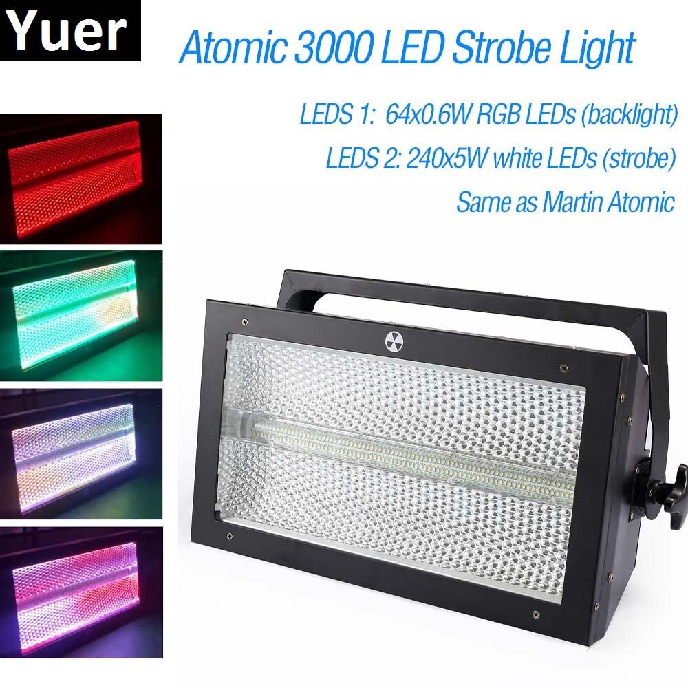 مصباح ستروب RGB LED احترافي ، مصباح ستروب جديد من Martin Atomic 3000 ، DMX ، فائق السطوع ، 3000 واط ، إضاءة ديسكو