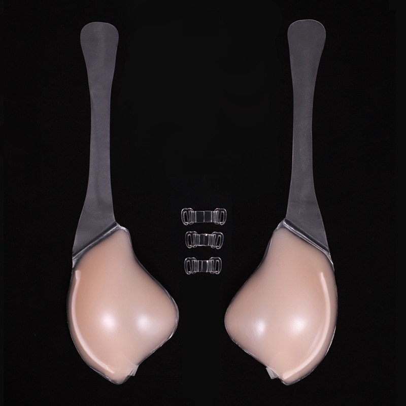 Silicone Bra Invisible Push Up Sexy Strapless Bra Stealth Adhesive Backless Breast Enhancer for Women Lady Nipple Cover sexy nude backless strapless ultimate boost bra with breathable fabric
