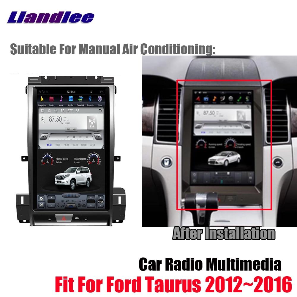 Liandlee Android Tesla de pantalla vertical para Ford Taurus 2012 ~ 2016 BT Carplay enlace espejo GPS Navi navegación mapa Cámara Media