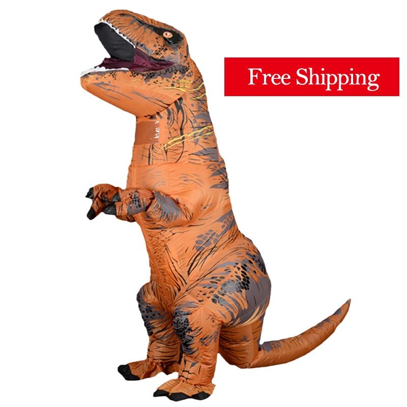 adult dinosaur inflatable christmas costume cosplay cartoon animal dinosaur jumpsuit halloween costume for men women l2651 Free Shipping T REX Mascot Inflatable Costume Anime Cosplay Dinosaur For Adult Men Women Kids Dino Cartoon