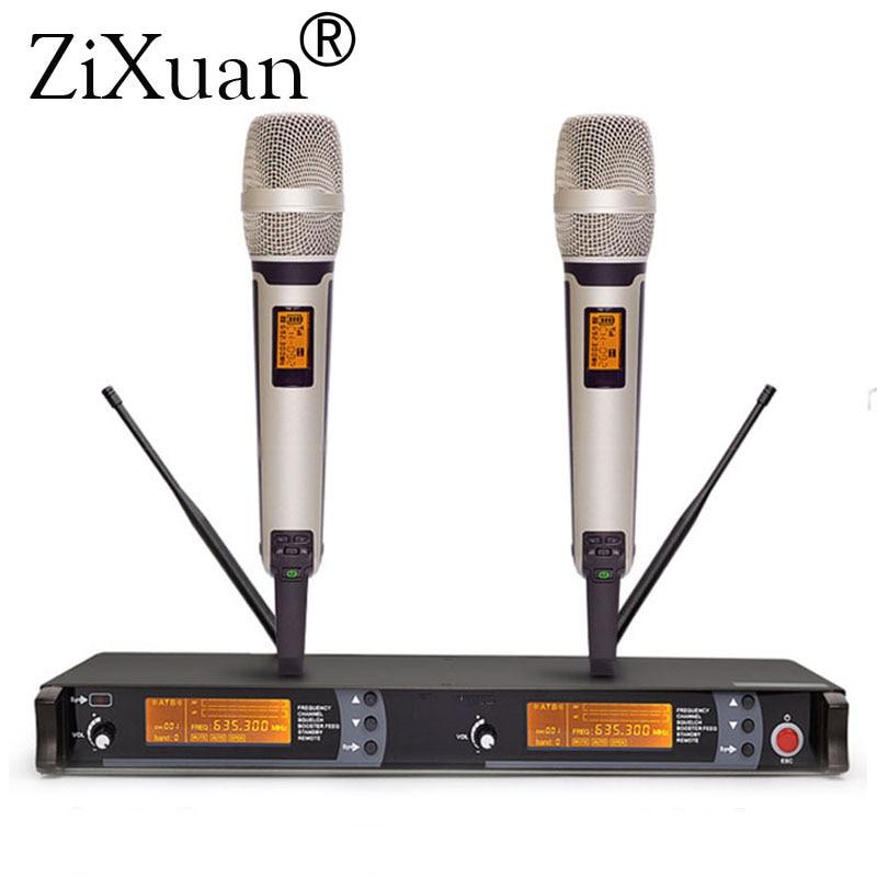 610-670MHz KTV كاريوكي مرحلة الأداء الميكروفونات skm9000 سماعة باليد lavalier mic ميكروفون مزدوج ميكروفون لاسلكي مهني