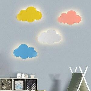 Children's Room Wall Lamp Cloud Light Simple Modern Boy Cartoon Led Wall Lamp Nordic Bedroom Bedside Lamps