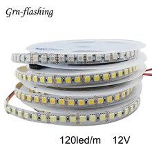 120LED/m 2m 3m 5m SMD 5050 LED Strip Light DC 12V Red Yellow Warm White RGB LED Tape Ribbon Light TV Backlight Home Decoration