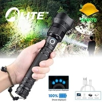 twmt powerful xh70 led flashlight usb rechargeable zoomable torch 18650 26650 power bank hunting lamp for camping fishing